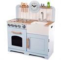 Immagine di maxi cucina azzurra