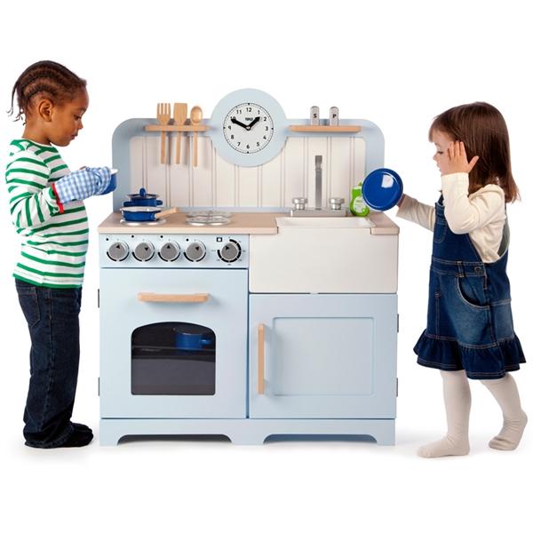Maxi cucina azzurra giocattoli di legno giochi in legno for Cucina azzurra