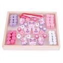Immagine di perline scatola in legno rosa