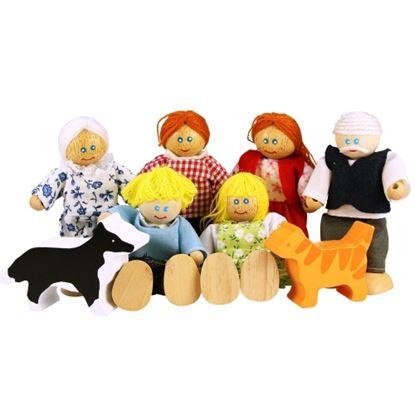 Immagine di famiglia completa per casa bambole