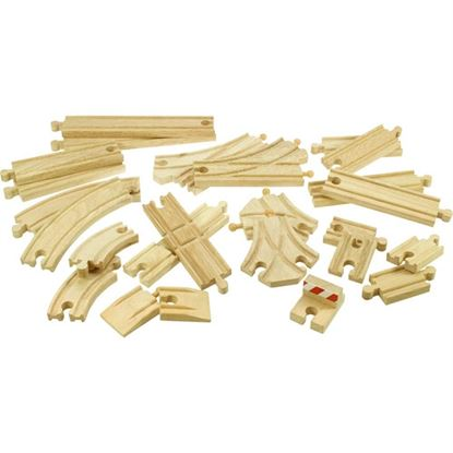 Immagine di set binari e scambi in legno