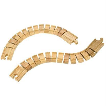 Immagine di binari in legno snodabili