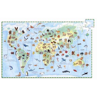 Immagine di puzzle e libro il mondo pz 100