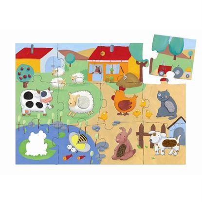 Immagine di puzzle gigante tattile fattoria