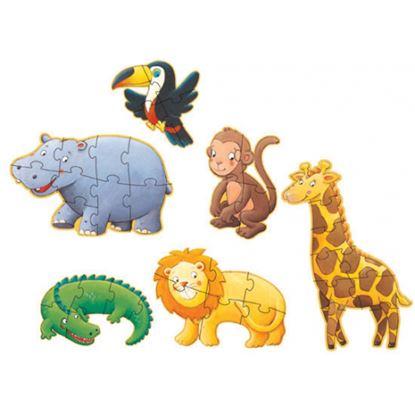Immagine di puzzle gigante scimmia e i suoi amici
