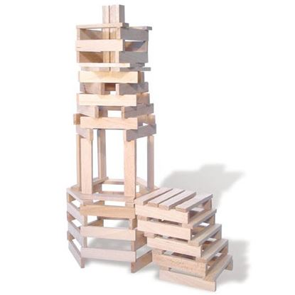Immagine di costruzioni tavolette naturali (200 pz.)