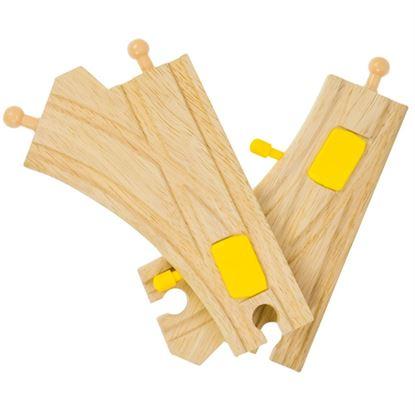 Immagine di scambio in legno con deviatore