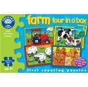 Immagine di puzzle trattore e animali (4 in 1)