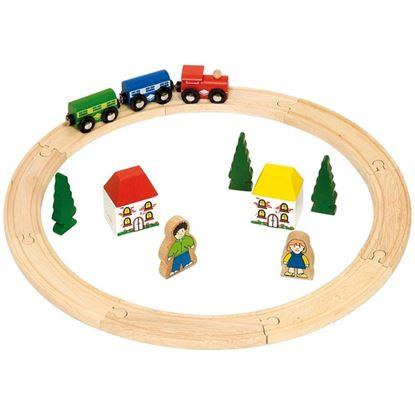 Immagine di pista trenini rotonda