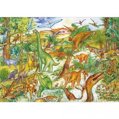 Immagine di puzzle e libro i dinosauri pz 100