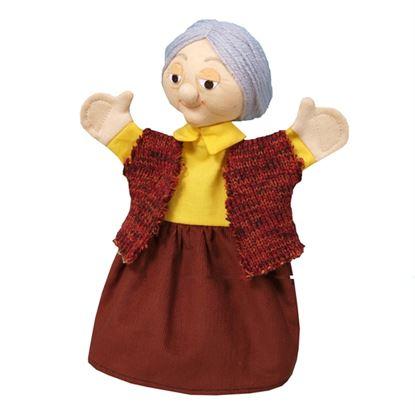 Immagine di burattino nonna di cappuccetto rosso