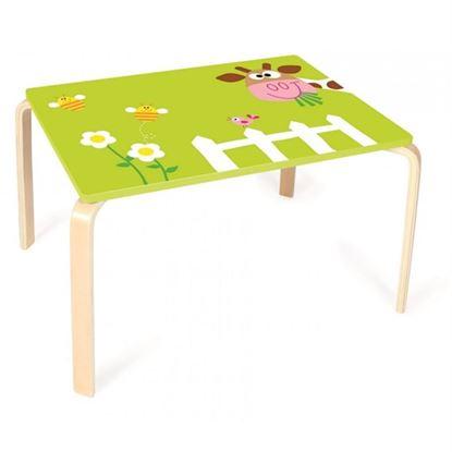 Immagine di tavolino per bambini mucca