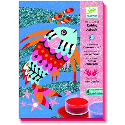 Immagine di sabbie e glitter pesci