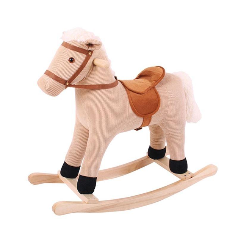 Immagine di cavallo a dondolo corda in stoffa