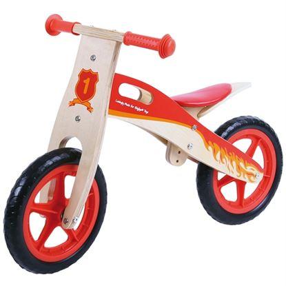 Immagine di bicicletta senza pedali fuoco