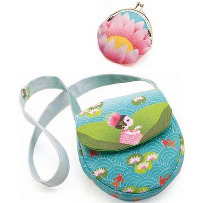 Immagine di borsetta con portamonete lago fiorito