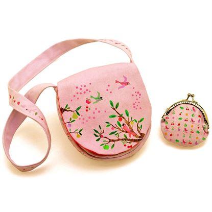 Immagine di borsetta con portamonete uccellini