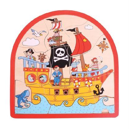 Immagine di puzzle a 3 livelli i pirati e il tesoro