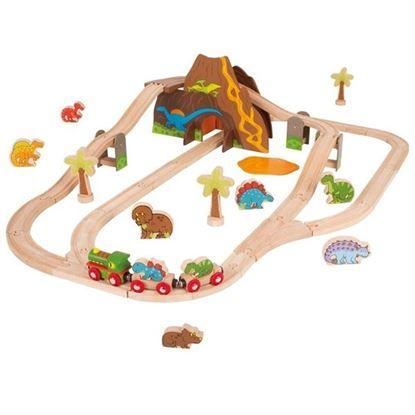Immagine di pista trenini dinosauri
