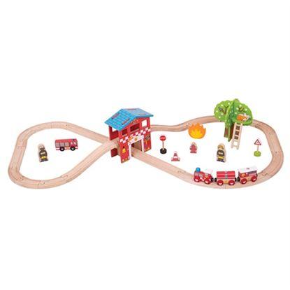 Immagine di pista trenini pompieri