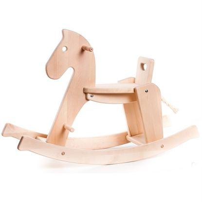 Immagine di cavallo a dondolo naturale
