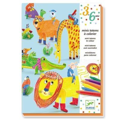Immagine di animali da colorare e costruire
