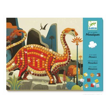 Immagine di mosaico dinosauri metallizzati