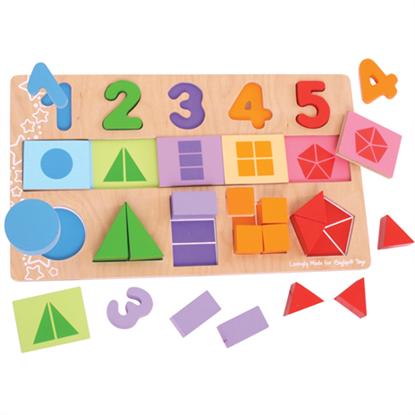 Immagine di numeri frazioni forme geometriche