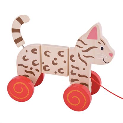 Immagine di gatto trainabile in legno