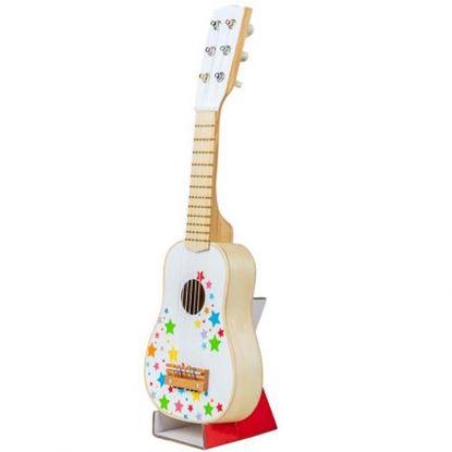 Immagine di chitarra bianca