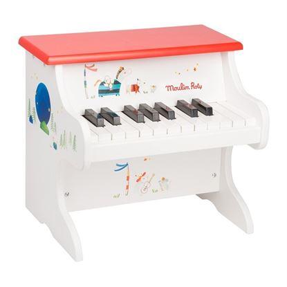 Immagine di pianoforte giocattolo bianco