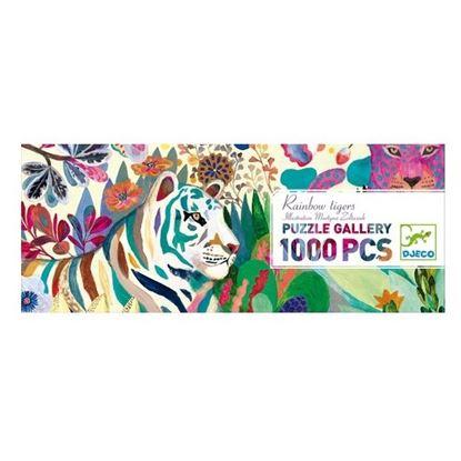 Immagine di puzzle tigri arcobaleno pz 1000