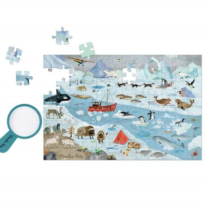 Immagine di puzzle banchisa con lente pz 96