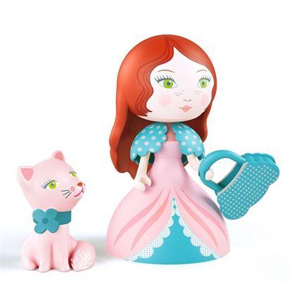 Immagine di rosa e il gattino