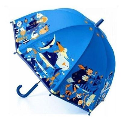 Immagine di ombrellino blu