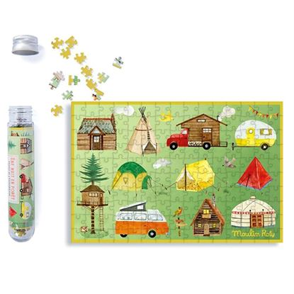 Immagine di puzzle in provetta campeggio pz 150