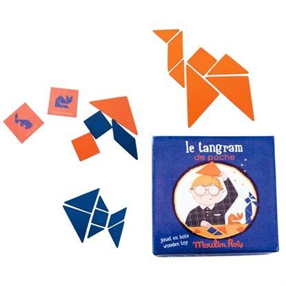 Immagine di mini tangram in legno con schede