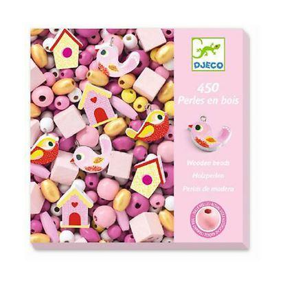 Immagine di perline in legno rosa