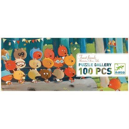 Immagine di puzzle gli amici della foresta pz 100