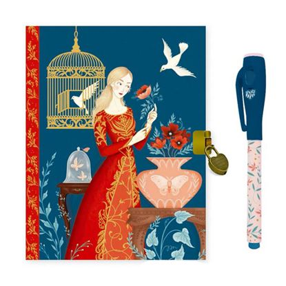 Immagine di diario con penna magica blu