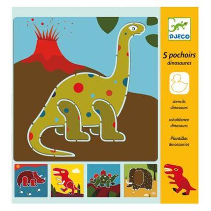 Immagine di stencil dinosauri