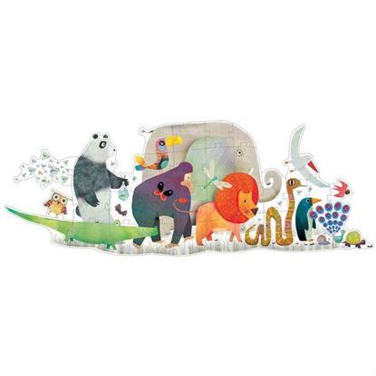 Immagine di puzzle gigante la sfilata degli animali pz 36