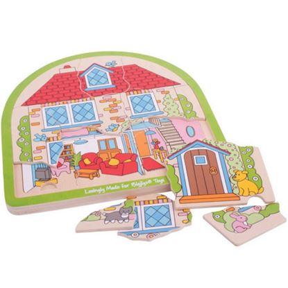 Immagine di puzzle a 3 livelli le stanze di casa
