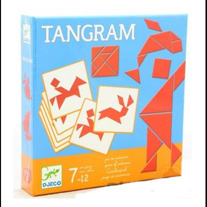 Immagine di tangram in legno con schede