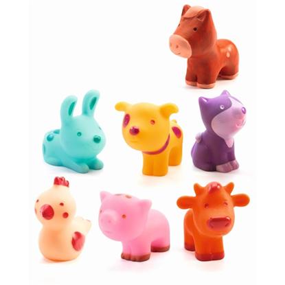 Immagine di animali della fattoria in gomma