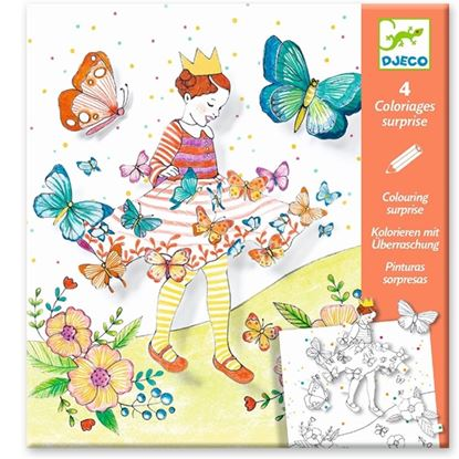 Immagine di colorare a sorpresa lady butterfly