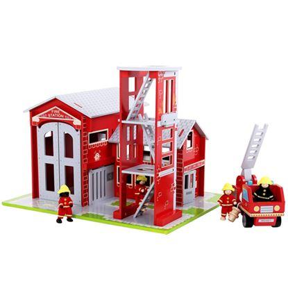 Immagine di grande stazione dei pompieri