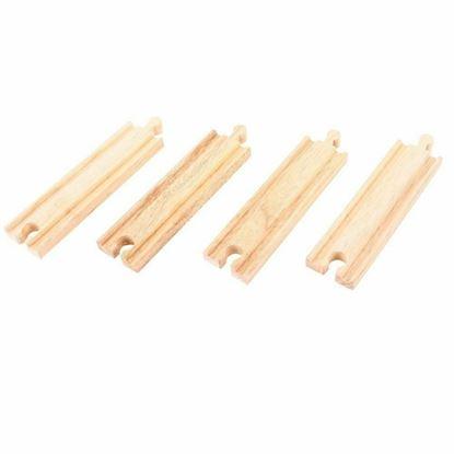 Immagine di binari in legno dritti pz 4