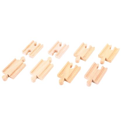 Immagine di binari in legno mini pz 8