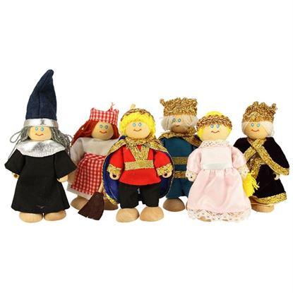 Immagine di personaggi castello famiglia reale